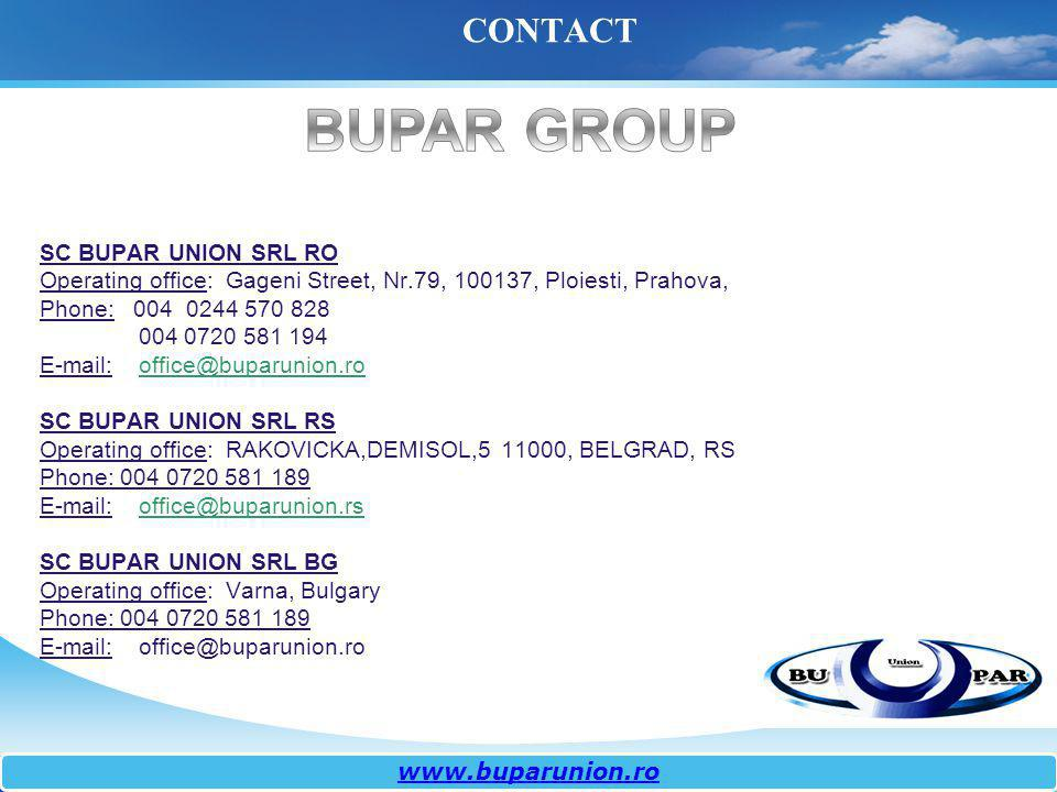 BUPAR GROUP CONTACT SC BUPAR UNION SRL RO