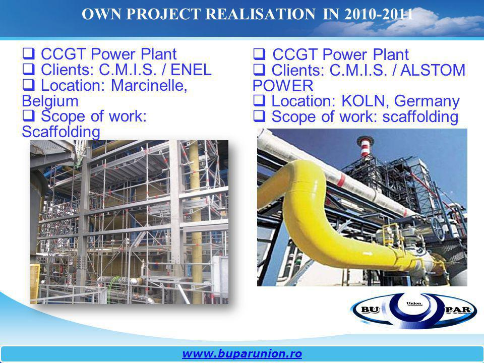 OWN PROJECT REALISATION IN 2010-2011