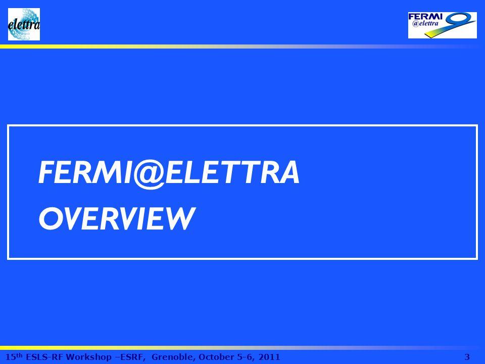 FERMI@ELETTRA OVERVIEW