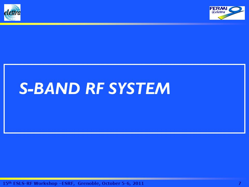 S-BAND RF SYSTEM