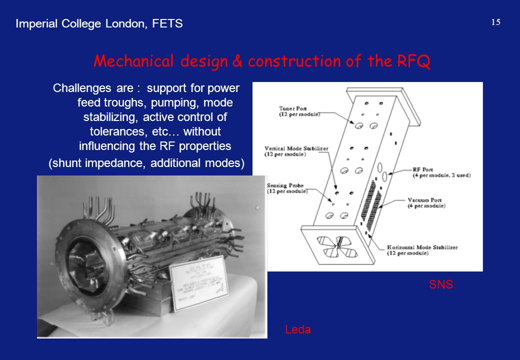 Mechanical design & construction of the RFQ