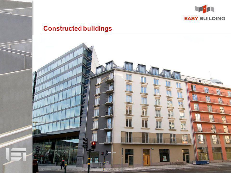 Сonstructed buildings