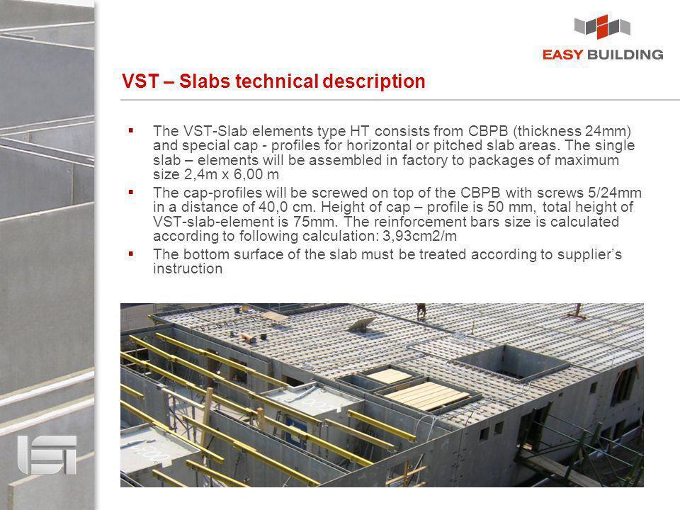 VST – Slabs technical description