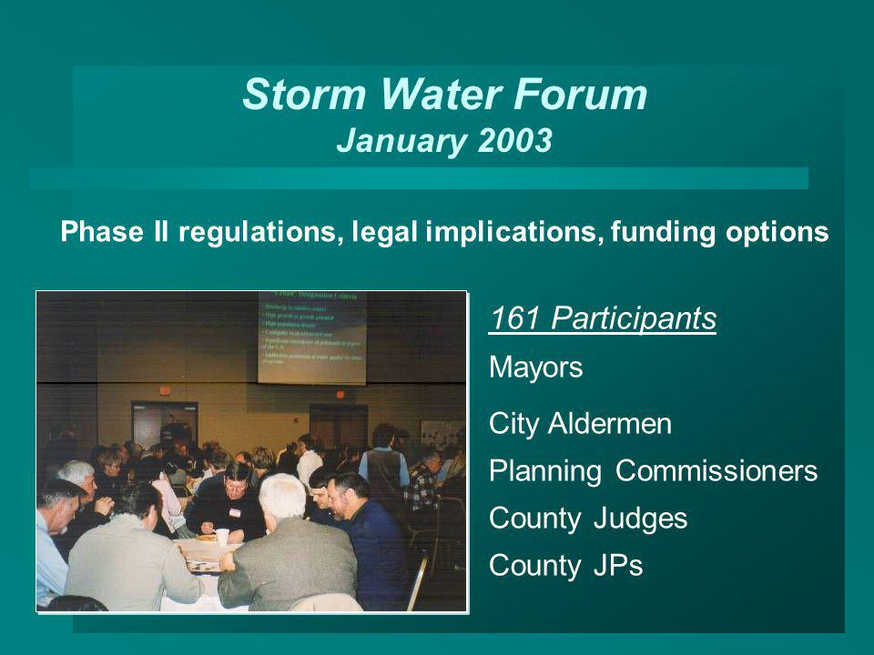 Storm Water Forum January 2003