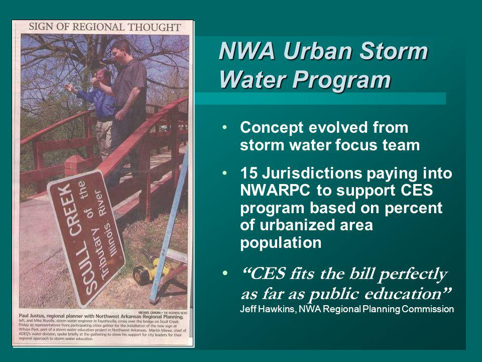 NWA Urban Storm Water Program