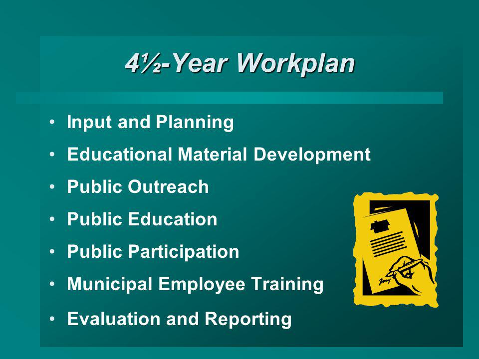 4½-Year Workplan Input and Planning Educational Material Development