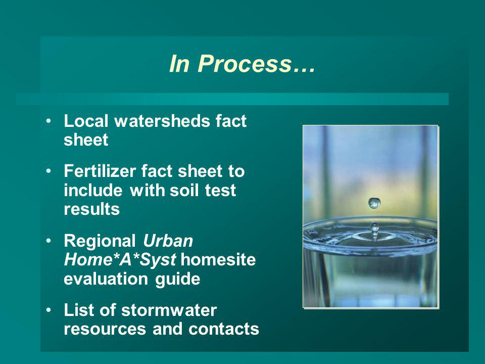 In Process… Local watersheds fact sheet
