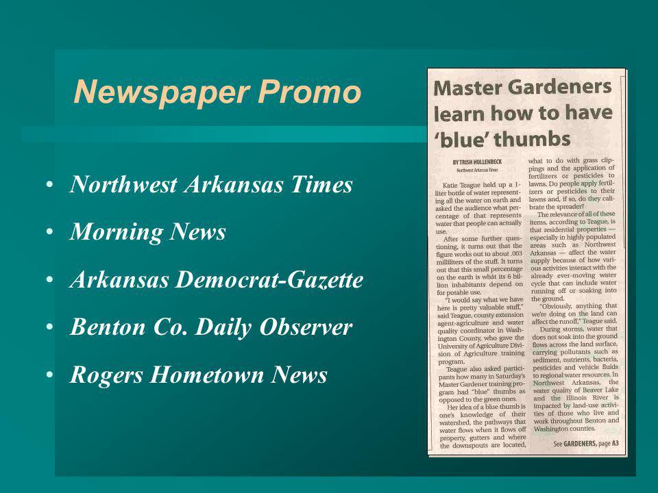 Newspaper Promo Northwest Arkansas Times Morning News