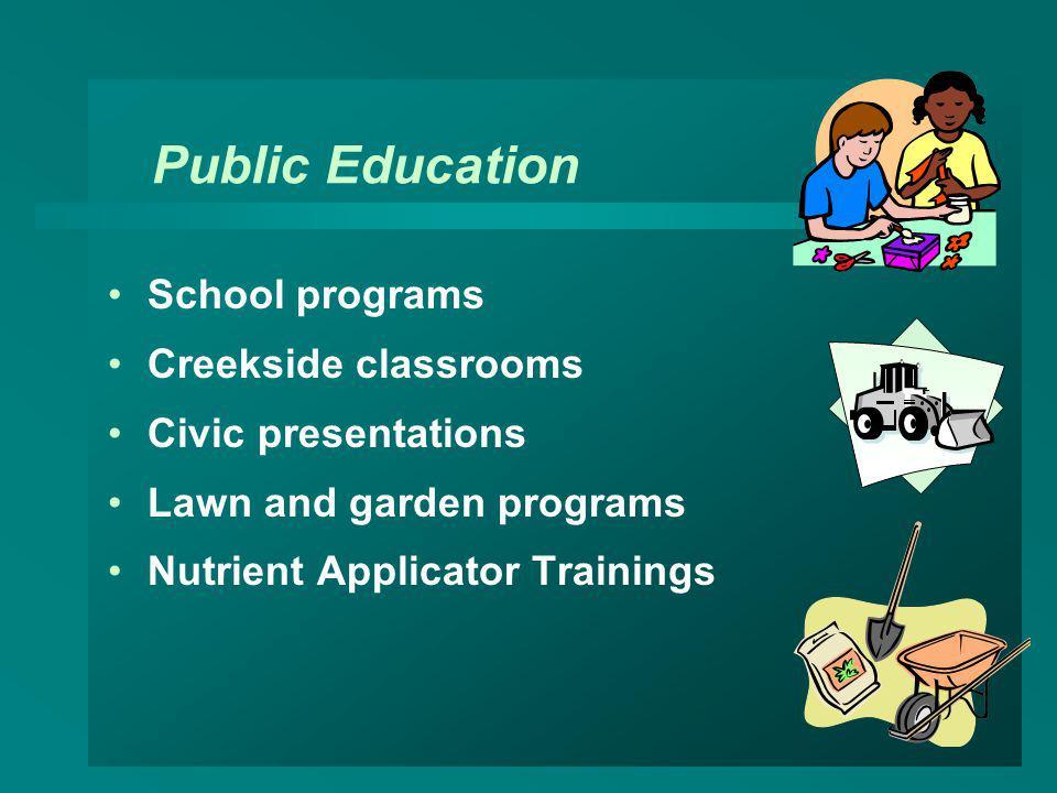 Public Education School programs Creekside classrooms