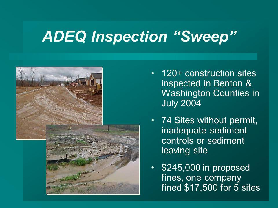 ADEQ Inspection Sweep