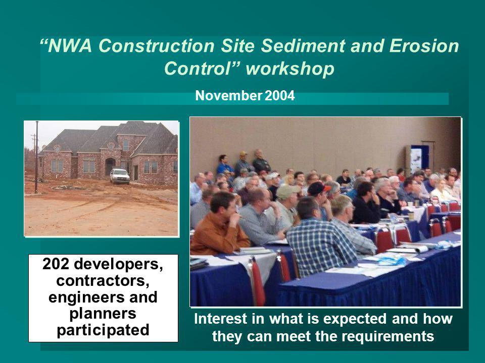 NWA Construction Site Sediment and Erosion Control workshop