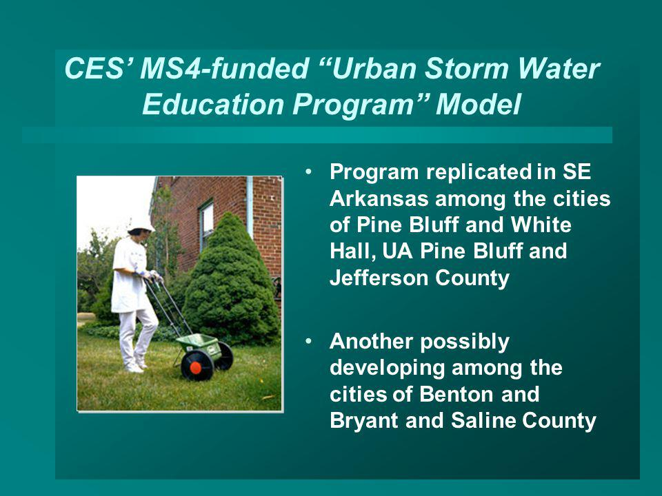 CES' MS4-funded Urban Storm Water Education Program Model