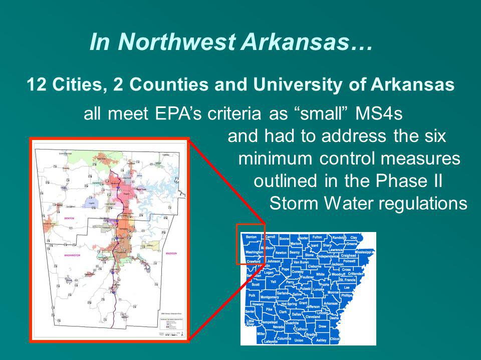 12 Cities, 2 Counties and University of Arkansas