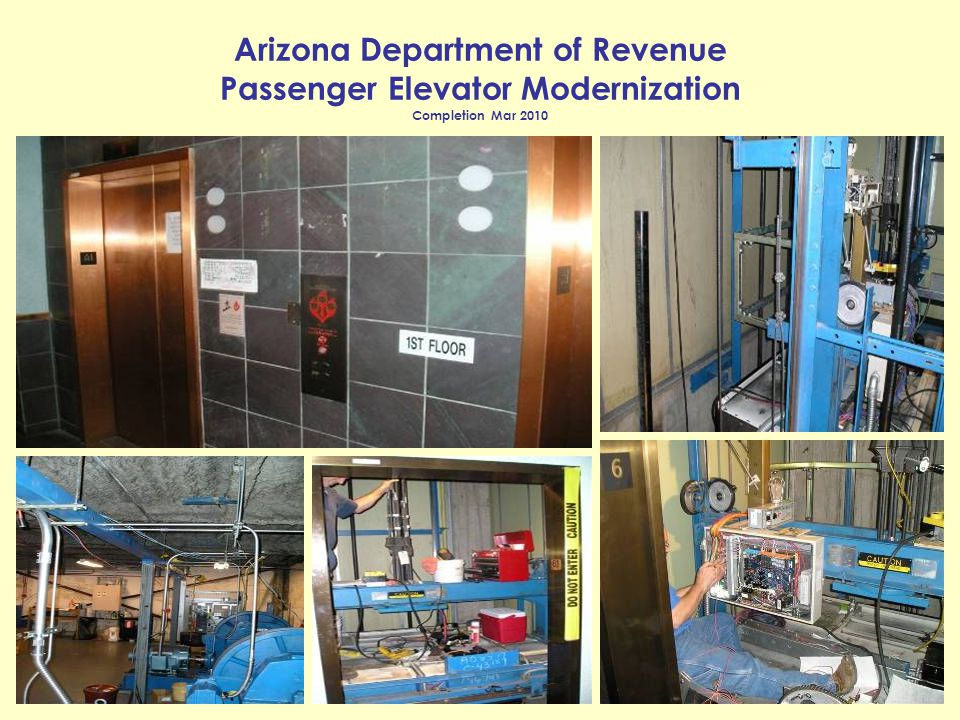 Arizona Department of Revenue Passenger Elevator Modernization Completion Mar 2010