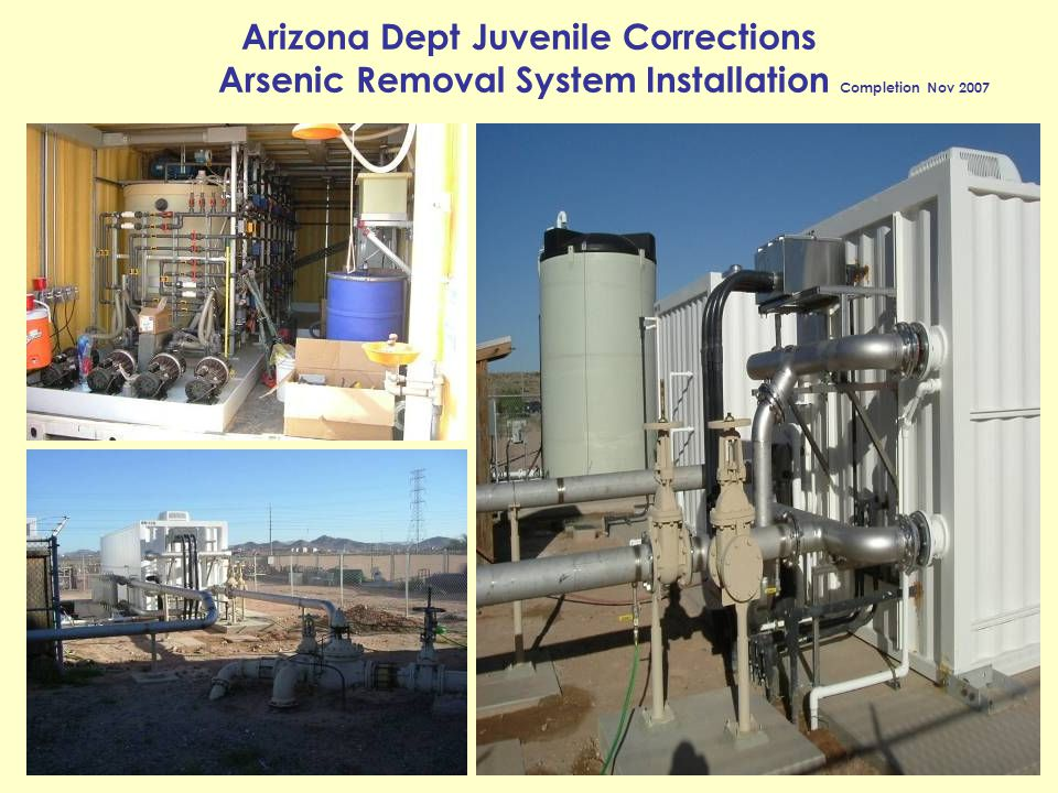 Arizona Dept Juvenile Corrections Arsenic Removal System Installation Completion Nov 2007