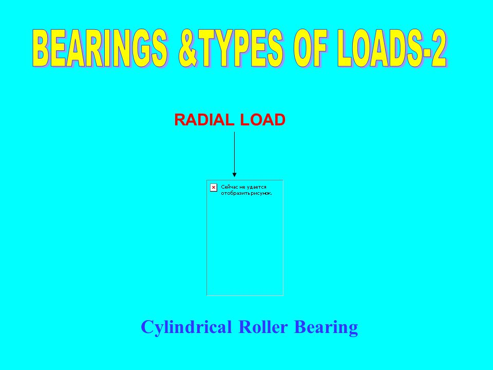 BEARINGS &TYPES OF LOADS-2