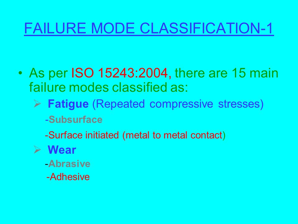 FAILURE MODE CLASSIFICATION-1