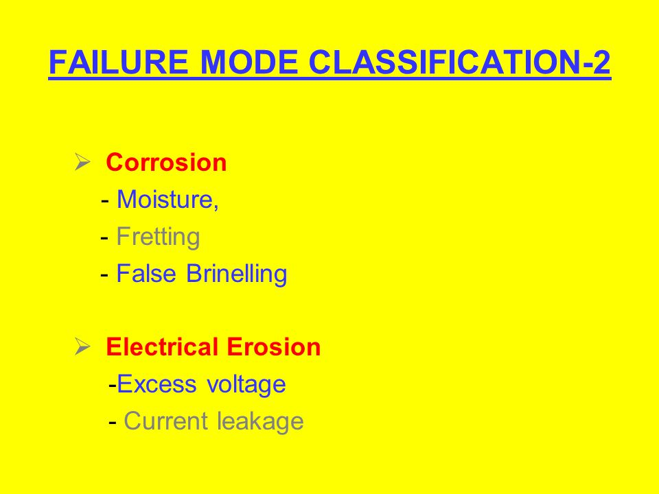 FAILURE MODE CLASSIFICATION-2