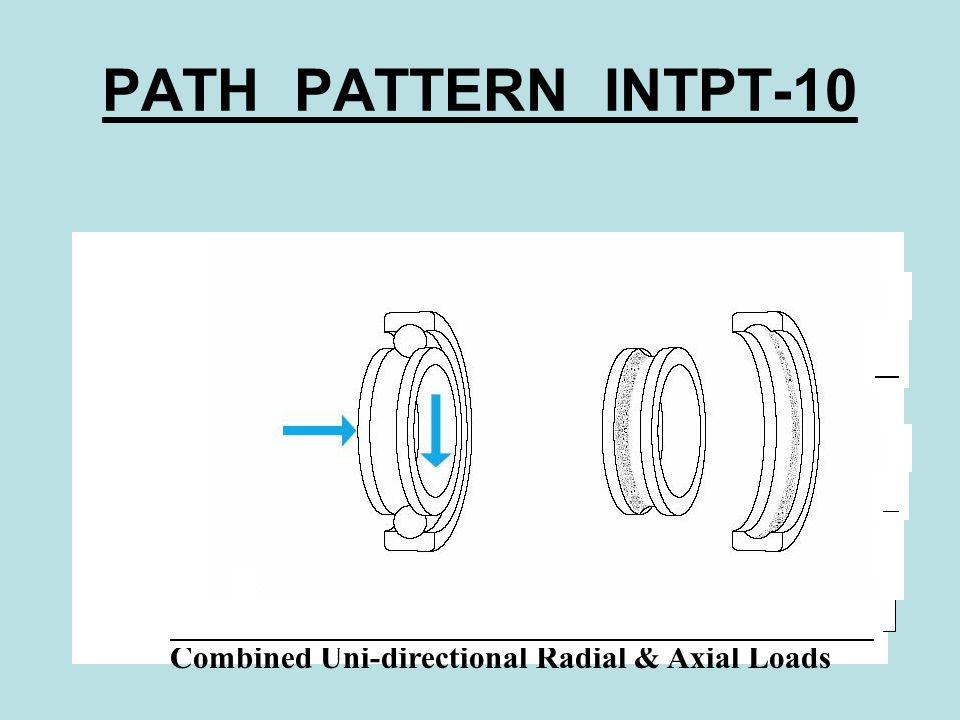 PATH PATTERN INTPT-10 Combined Uni-directional Radial & Axial Loads