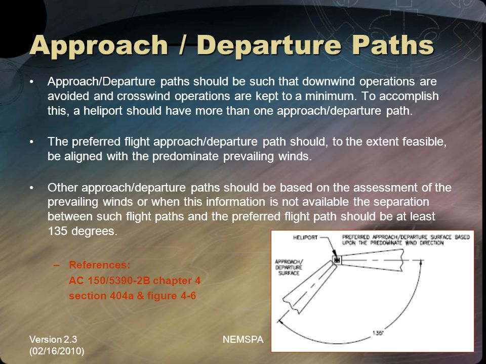 Approach / Departure Paths