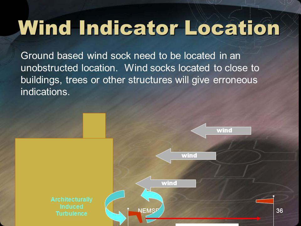 Wind Indicator Location