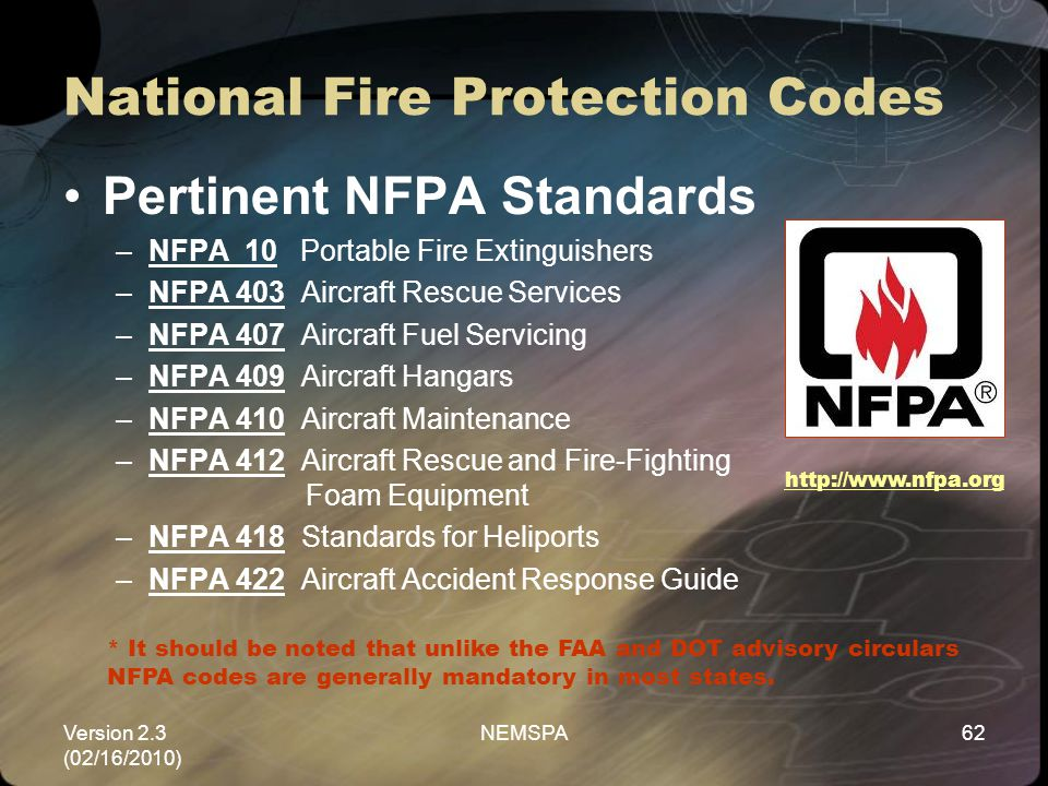 National Fire Protection Codes