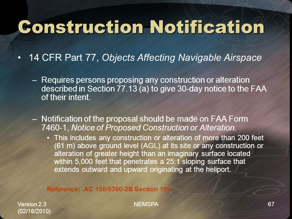 Construction Notification