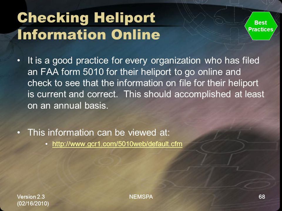 Checking Heliport Information Online