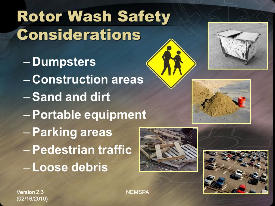 Rotor Wash Safety Considerations