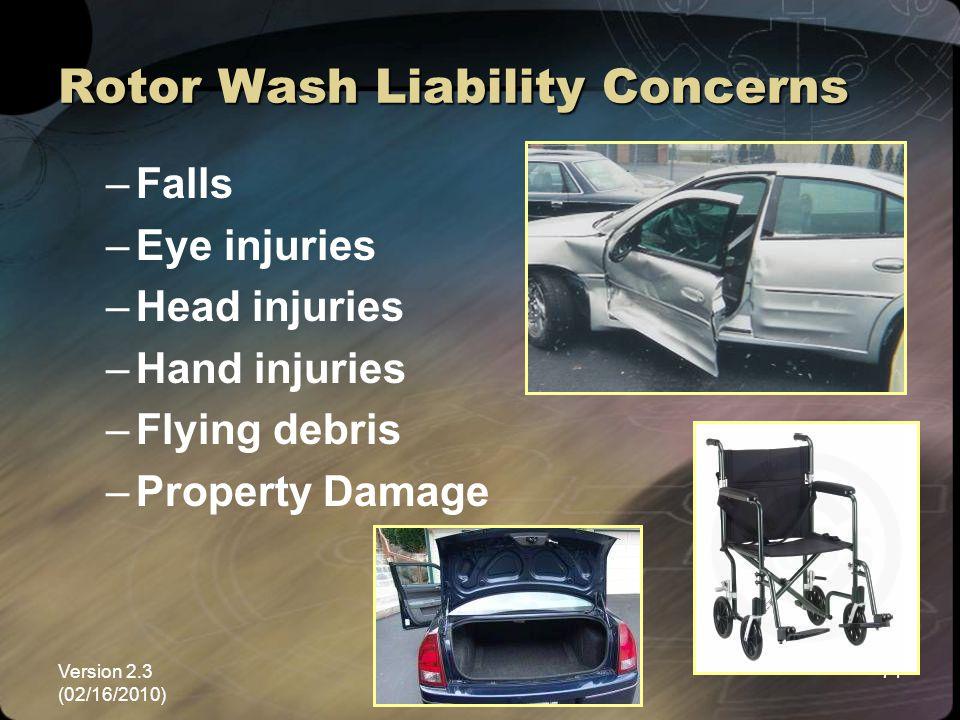 Rotor Wash Liability Concerns