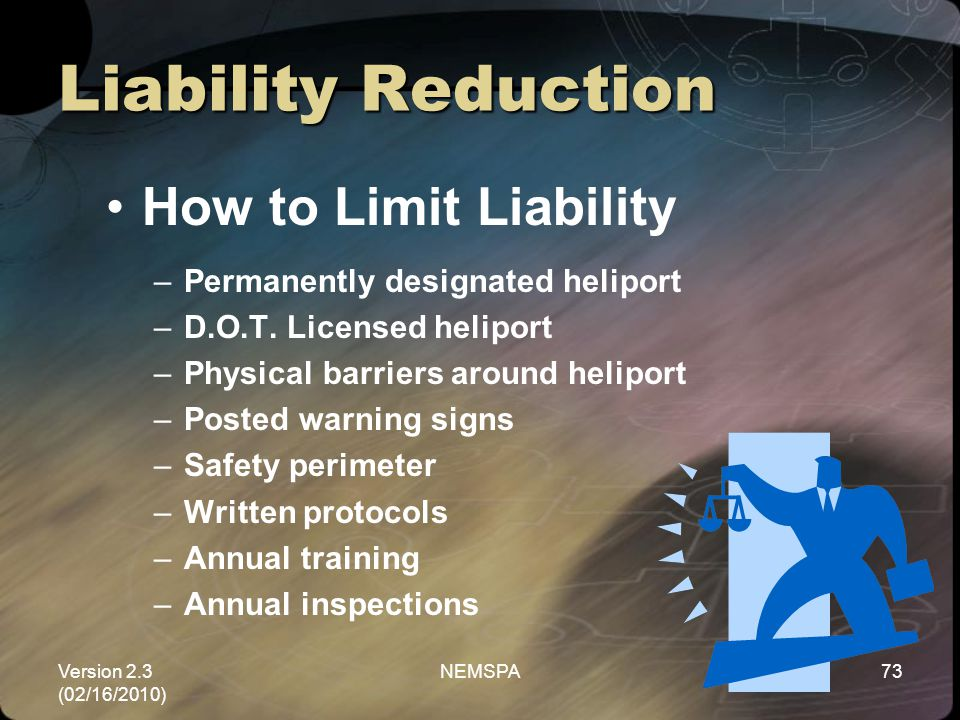 Liability Reduction How to Limit Liability