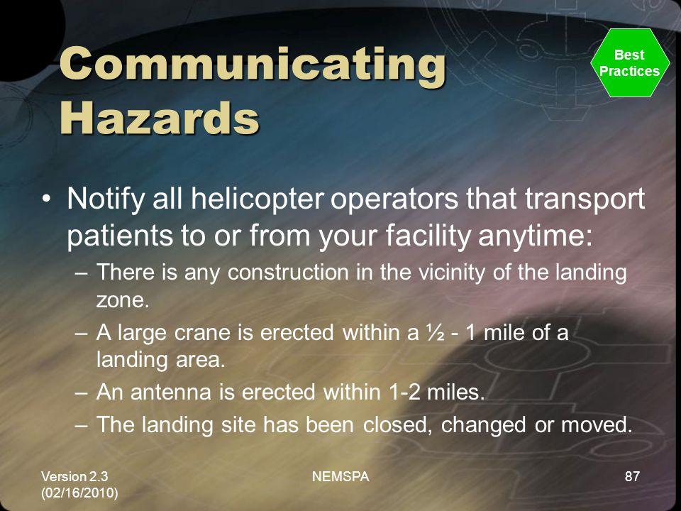 Communicating Hazards