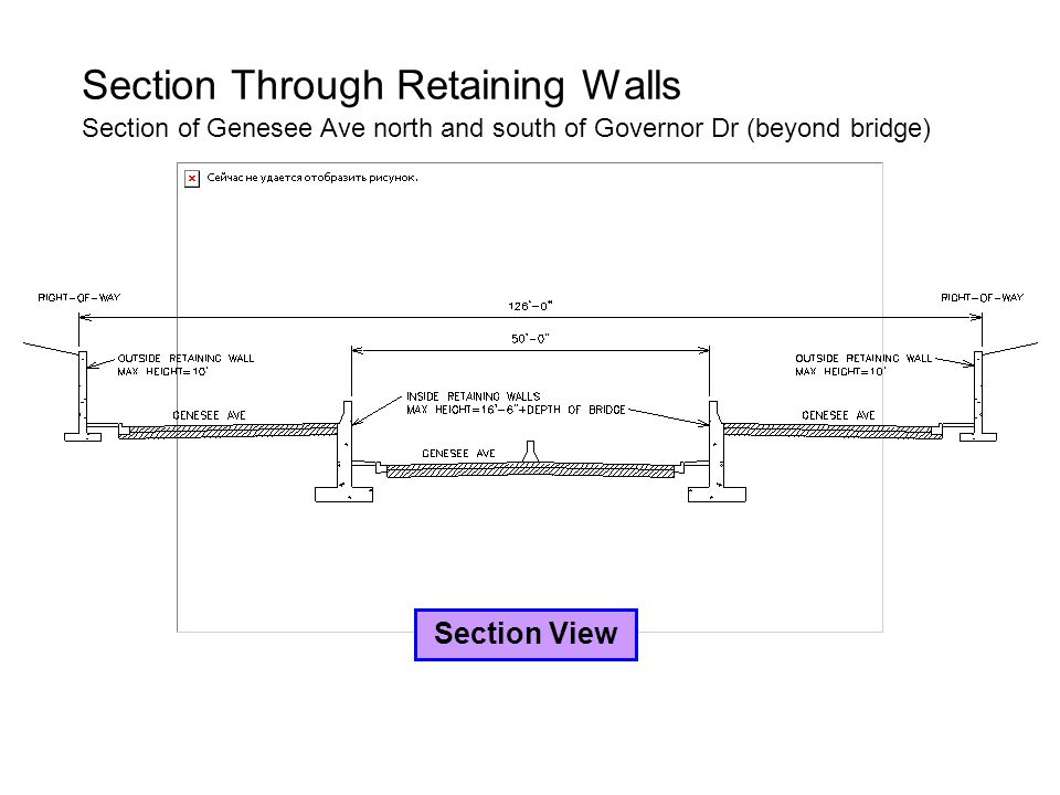 Section Through Retaining Walls