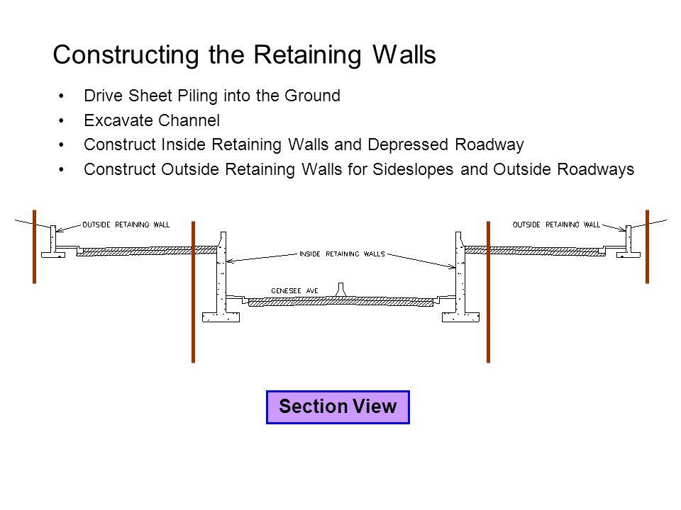 Constructing the Retaining Walls