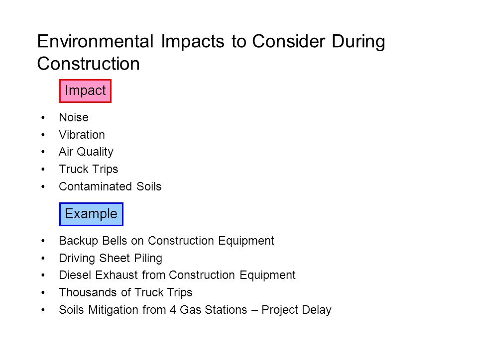 Environmental Impacts to Consider During Construction