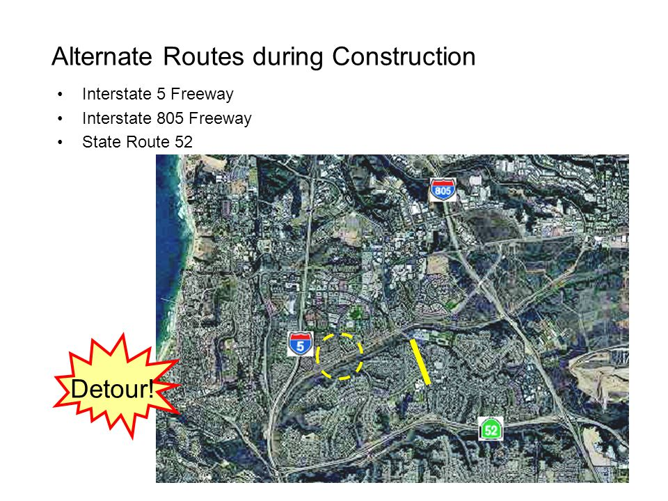 Alternate Routes during Construction