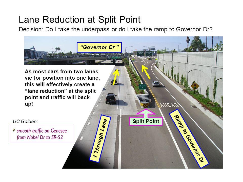 Lane Reduction at Split Point