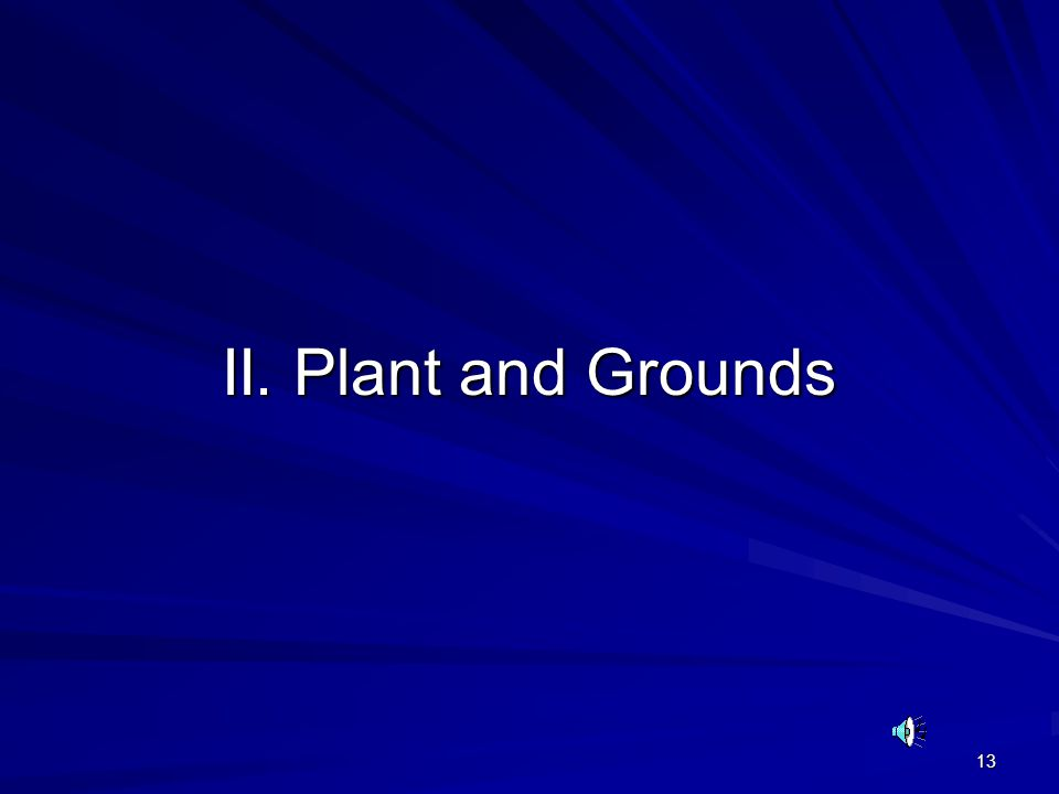 II. Plant and Grounds