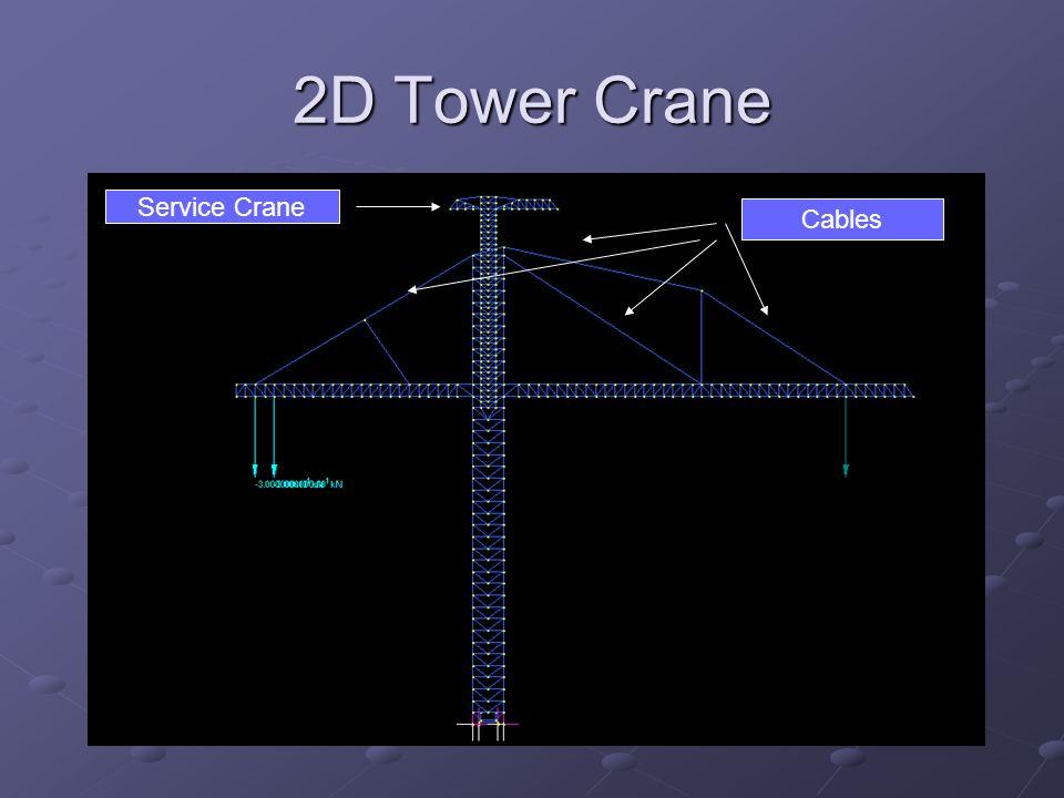 2D Tower Crane Service Crane Cables