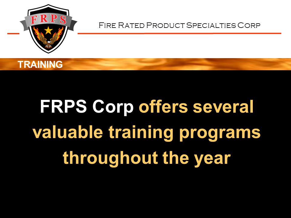 FRPS Corp offers several valuable training programs