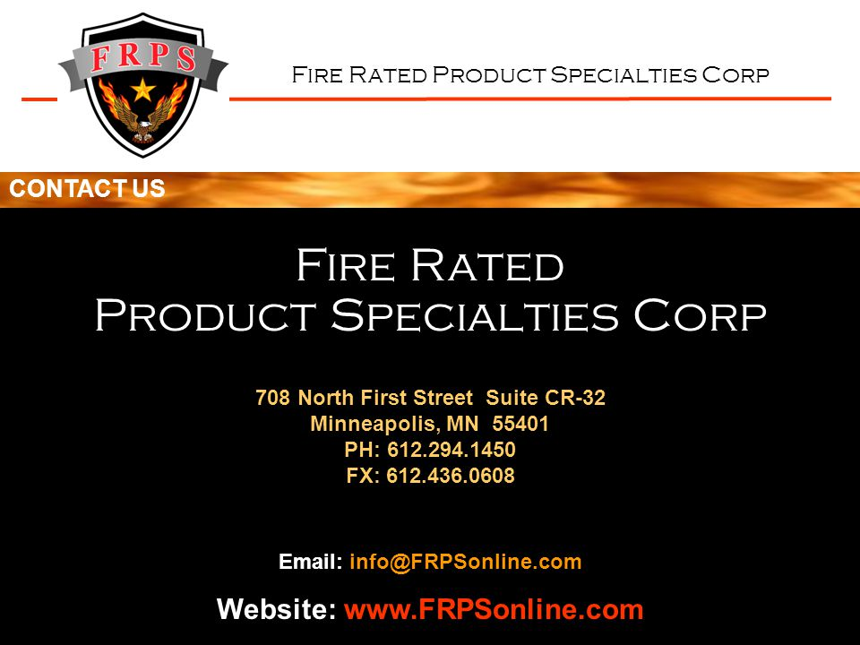 Website: www.FRPSonline.com 708 North First Street Suite CR-32