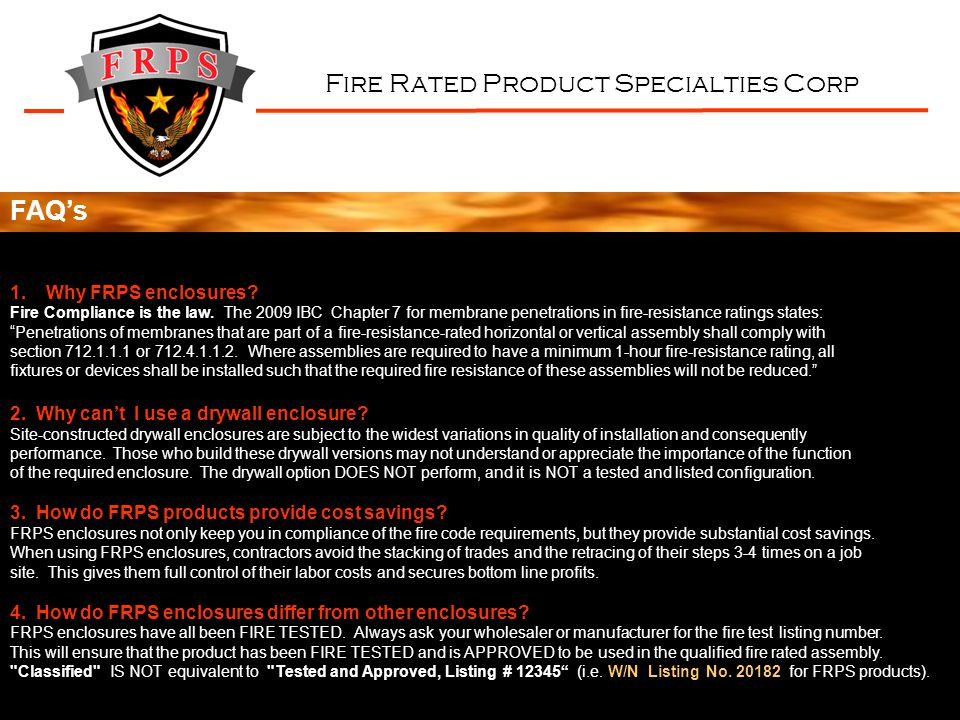 Fire Rated Product Specialties Corp