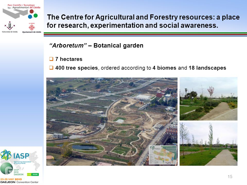 The Centre for Agricultural and Forestry resources: a place for research, experimentation and social awareness.