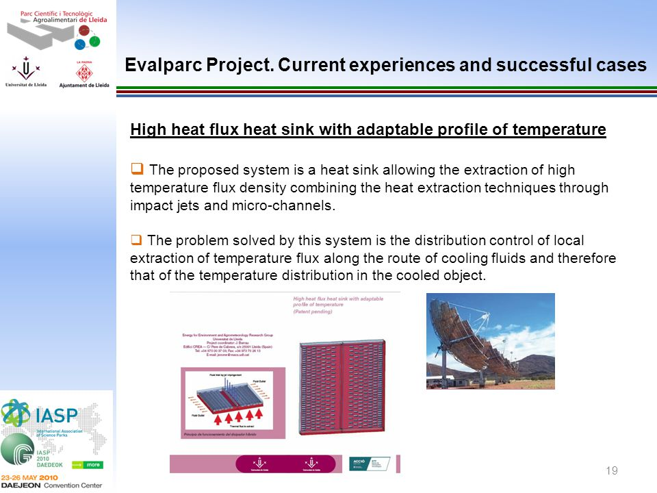 Evalparc Project. Current experiences and successful cases