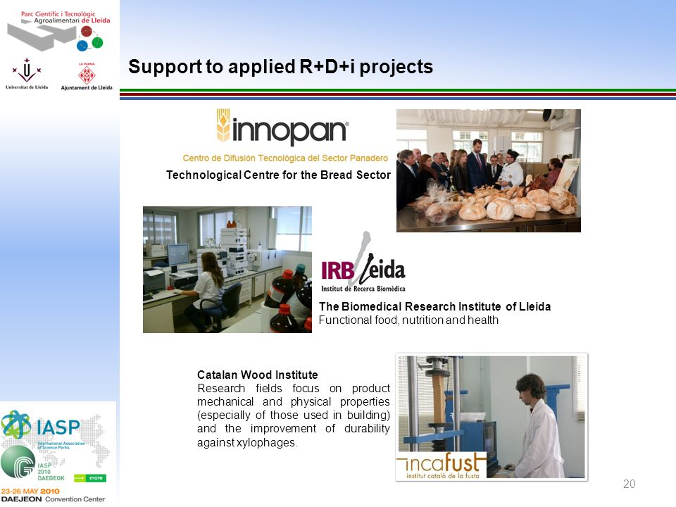 Support to applied R+D+i projects