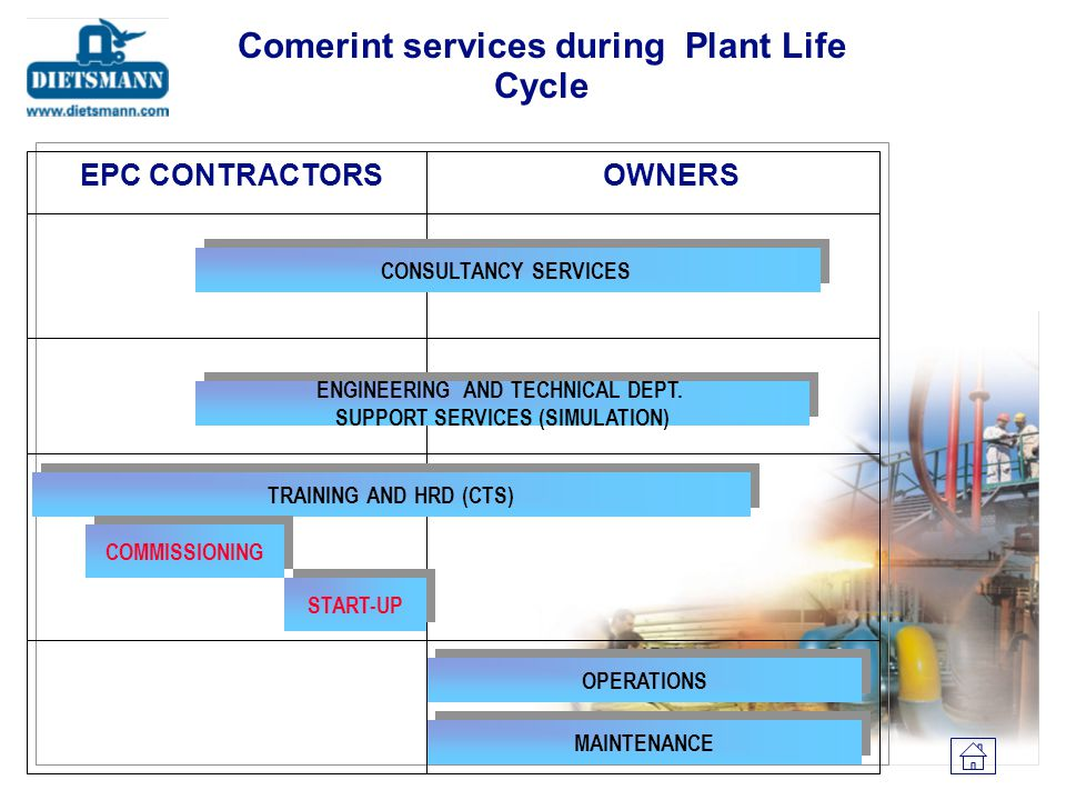 Comerint services during Plant Life Cycle