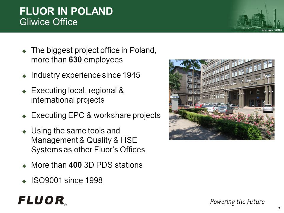 FLUOR IN POLAND Gliwice Office