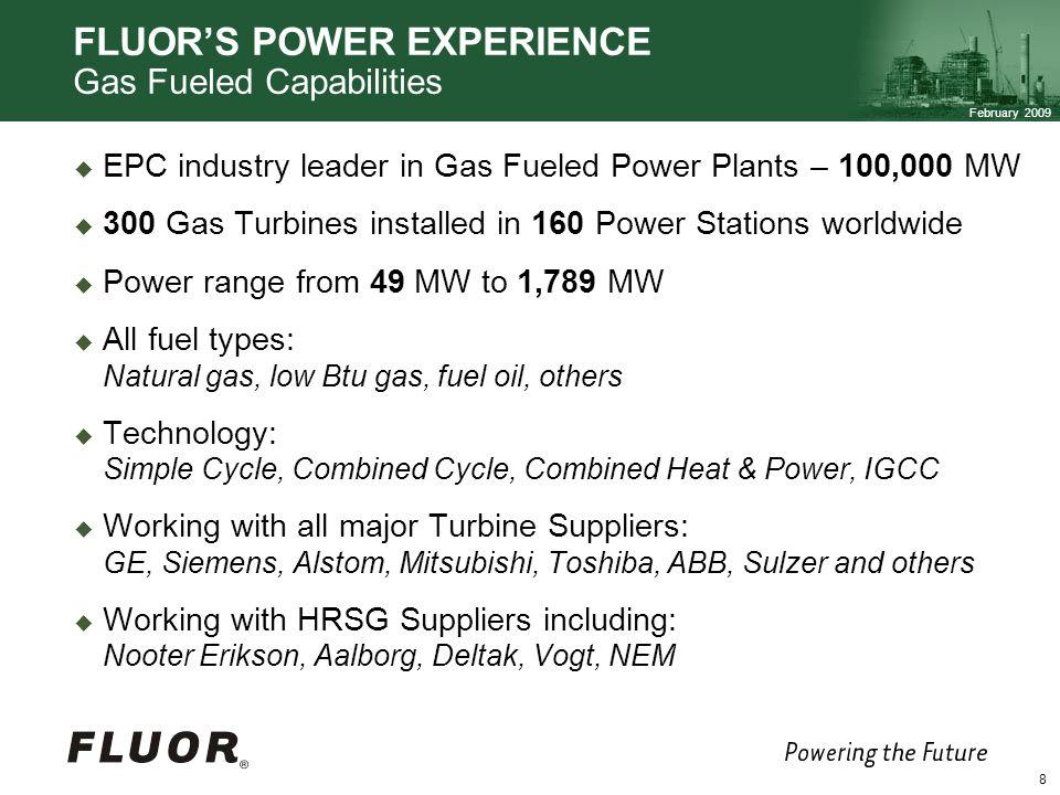 FLUOR'S POWER EXPERIENCE