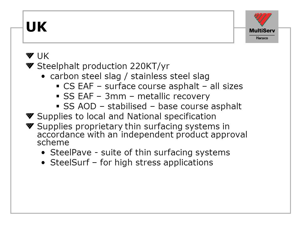 UK UK Steelphalt production 220KT/yr