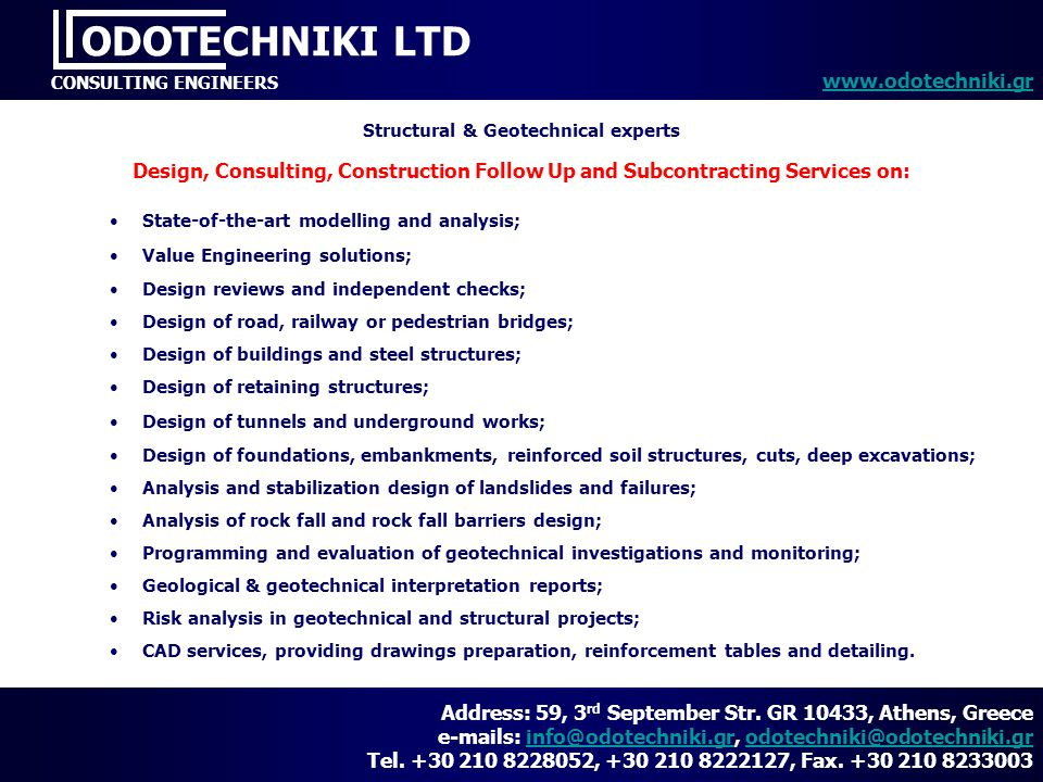 Structural & Geotechnical experts